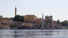 Mosque along the Nile (Rckr88) Tags: aswan egypt africa travel travelling mosque along nile mosquealongthenile water waves wave reflections reflection reflectionsofthenile upperegypt upper nileriver nileriverupperegypt thenileriver boat boats felucca feluccaridethroughaswan
