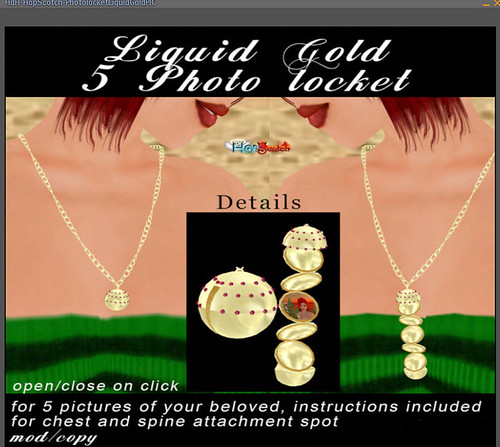 69L Wednesday HopScotch PhotoLocket Liquid Gold