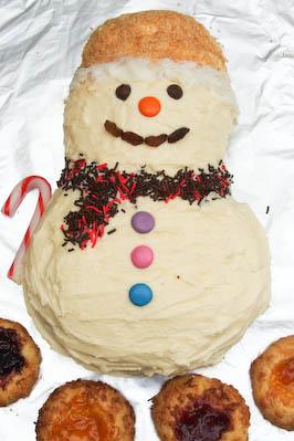 Easy Snowman Cake Recipe