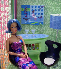 Melody's place (partydolly) Tags: blue house cute art scale fashion bar hair miniatures mod doll furniture ooak room barbie mini melody accessories custom sixth shag fashiondoll mattel dollhouse fashiondolls playscale candycoloredhair partydolly
