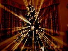Shooting star tree (Billy Clapham) Tags: christmas xmas tree film lights star shoot fuji finepix billy fujifilm shooting clapham starry s200 exr s200exr