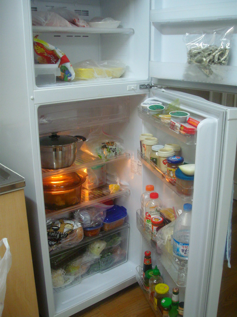 Inside my fridge - freezer and side
