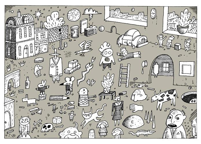 Grey Doodle World