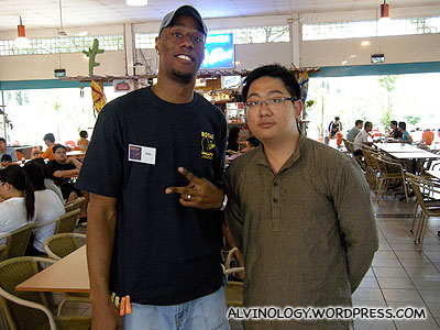 Me with one of the friendly Botak Jones staff
