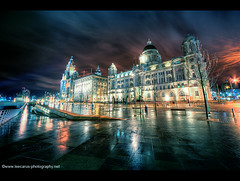 Pier Head At Night - January 2010 (Lee Carus) Tags: zeiss liverpool pier long exposure head january carl hdr 2010