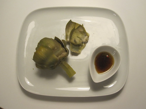 Artichoke and vinaigrette