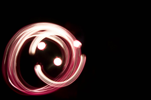 light painting smile