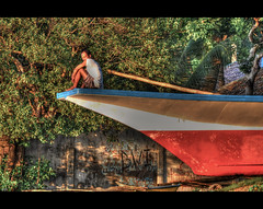 Taking a Bow (Lost In The RP) Tags: boat nikon philippines bohol panglao bangka d90 bikinibeach sunriseshot