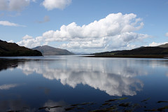 Loch Alsh - Reflection (Eusebius@Commons) Tags: sky lake reflection clouds landscape mirror scotland highlands day scenic loch mtrtrophyshot pwpartlycloudy