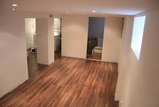 put on squarely ready for floor finishing your basement floor is now