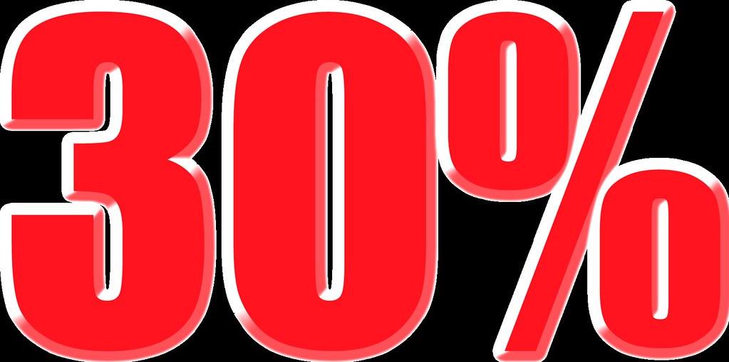 imagenes del 30% para carteles de rebajas