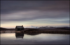 A Wee Hut (angus clyne) Tags: autumn winter cold fall ice dawn scotland frozen fishing frost dam heather small shed perthshire glen tay hut shack loch thin moor bog kenmore bothy flikcr lochan amulree quaich corrigatediron leefilters colorphotoaward myfavouriteweehut thatweeroad