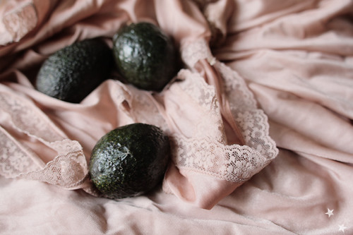 three avocados & a handful of satin