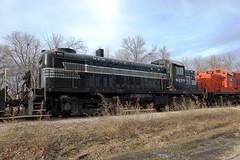 New York Central Railroad No. 8255 (RS-3), Kansas, Baldwin City (3,981b) (EC Leatherberry) Tags: railroad kansas locomotive 1951 midlandrailway douglascounty touristtrain newyorkcentralrailroad 8255