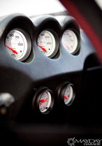 The OEM dash is a prime candidate for aftermarket gauges.