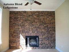 "Autumn Blend Ledgestone Fireplace • <a style=""font-size:0.8em;"" href=""http://www.flickr.com/photos/40903979@N06/4287652783/"" target=""_blank"">View on Flickr</a>"