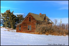 HDR #346 - Old Farm House (Pete's Photo Magic) Tags: wood old house canada building abandoned barn vintage log pentax shed machine forgotten alberta abandonment hdr iamcanadian 3xp photomatix istdl