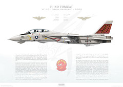 F-14D Tomcat VF-101 Grim Reapers, AD160 / 164601. 2005 (www.deploymentproductions.com) Tags: 2005 art usmc illustration plane us artwork fighter force grim aircraft aviation air profile navy marines bomber usaf productions usn carrier deployment tomcat vf101 reapers f14d 164601 ad160 wwwdeploymentproductionscom