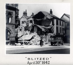 What was left of the Cloverleaf Cafe after the bomb dropped on 30th April 1942 (Mary Blathwayt) Tags: cafe norwich 1942 blitz bombed cloverleaf
