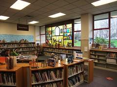 Children's area @ the Bellingham Public Library - Bellingham WA (WA State Library) Tags: reading libraries stainedglass bellingham umbrellas picturebooks childrensarea publiclibraries bellinghamwa bellinghampubliclibrary washingtonstatelibrary