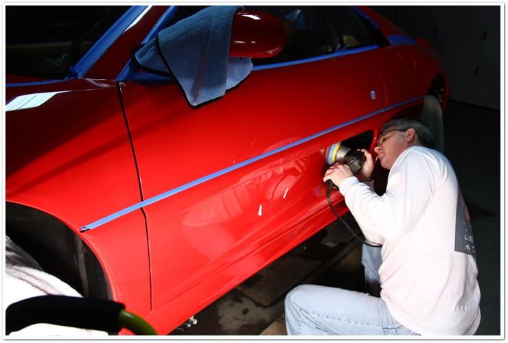 Ferrari 355 GTS polishing