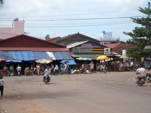 Strassenscene in Sihanoukville