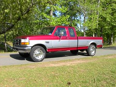 ford diesel 001 (stevenbr549) Tags: red ford truck power diesel cab stroke 1995 extended xlt f250 powerstroke