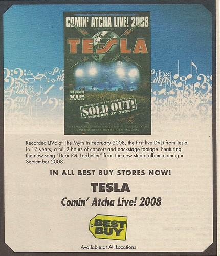 02/22/08 Tesla @ Myth, Maplewood, MN (DVD Ad)