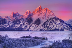 Grand Tetons , Sunrise From Snake River (kevin mcneal) Tags: winter snow mountains bravo grandtetonnationalpark therockies snakeriveroverlook