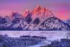 Grand Tetons , Sunrise From Snake River (kevin mcneal) Tags: winter snow mountains bravo grandtetonnationalpark therockies snakeriveroverlook