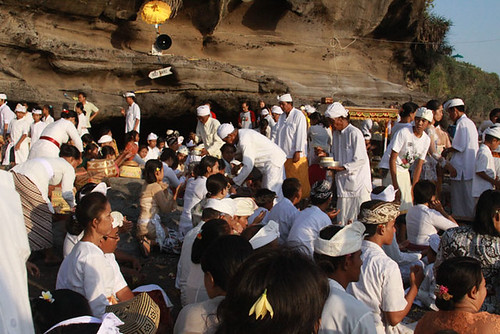 Balinese Hindu Ceremony at Tanah Lot