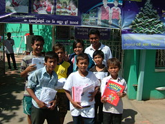 Sponsored kids from Orphanage, Cambodia (Paul Underwood2010) Tags: christmas school girls boy food english cooking boys girl youth children education cambodia bikes books orphanage orphans celebration learning celebrate sponsor phnom penh sponsorship happs