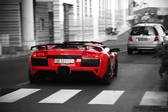 LP640R. (Damian Morys Photography) Tags: lamborghini murcielago lp640 roadster red swiss plates geneva monaco monte carlo french riviera place du casino square hotel de paris valet euro trip motion dream car water front yachts port f1 tunnel hamann exhaust