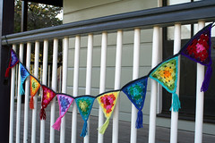 granny bunting (rettgrayson) Tags: rainbow spectrum crochet flags garland yarn colourful granny bunting rettgrayson lorettagrayson