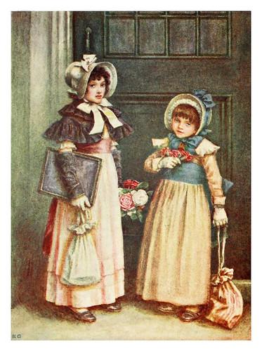 010-Las niñas van a la escuela-Kate Greenaway 1905- Marion Spielmann y George Layard