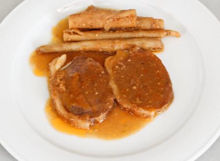 Vedella amb salsafins