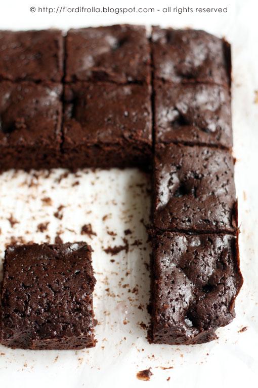 Brownies (alleggeriti) al cioccolato & ciliegie