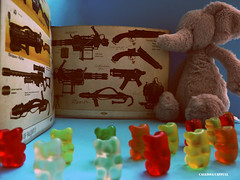 036: Just Another Day (Callissa) Tags: elephant game army teddy e friday gummybears recruits weapons sargent jellycat project365 fallout3 challengeyouwinner callissacaffull squirtrude