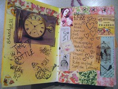 Time and Things I Love to Do (chsaunders55) Tags: collage mixedmedia visualjournal artjournal panpastels