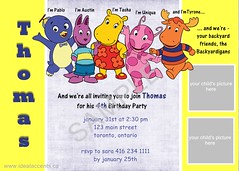 backyardigans invite (Ideal Accents) Tags: birthday invitations backyardigans birthdayinvitation