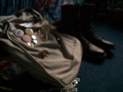 Blur (PortionsOfKarl) Tags: bag book floor boots room my