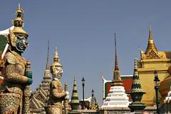 Wat Phra Kaew 1 (bag_lady) Tags: tourism architecture thailand bangkok royal structures sacred marble pillars gilded watphrakaew chedi 5photosaday concordians earthasia
