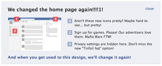 Facebook changes again!
