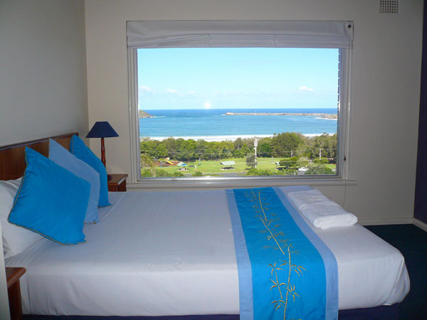 view from our pad for the night in Coffs Harbor