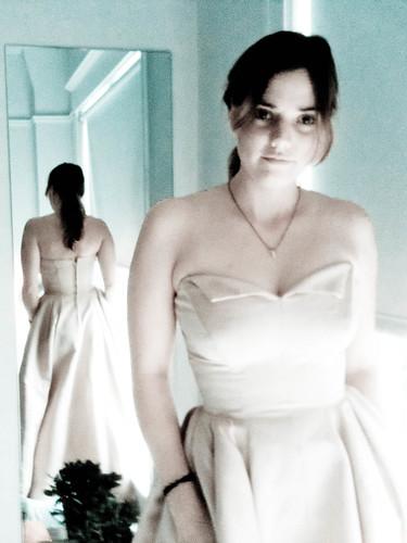 me in a vintage dress