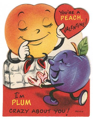 vintage valentine peach