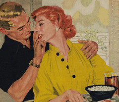 Marital Pushups (captainpandapants) Tags: love photoshop vintage ads advertising nose photo comedy affection humor funnies manipulation kitsch romance retro romantic parody pick booger snot nasal sinus picker