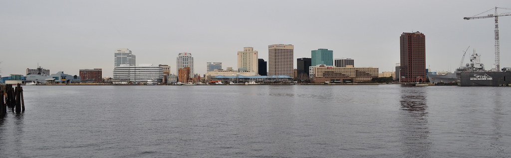 Elizabeth River - Norfolk Skyline