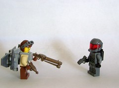 The Rivalry.... (The Skull Bandit) Tags: brick art apple movie for tv call arms lego duty ghost engine halo artsy will prototype microsoft amelia trans build cod nerf trade bionicle proto prototypes chapman protos mw2 brickarms mw1