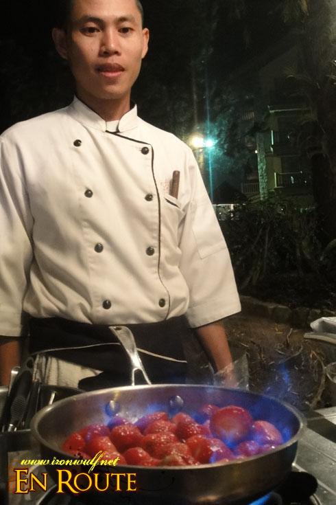 Lakbay Norte Strawberry Flambe